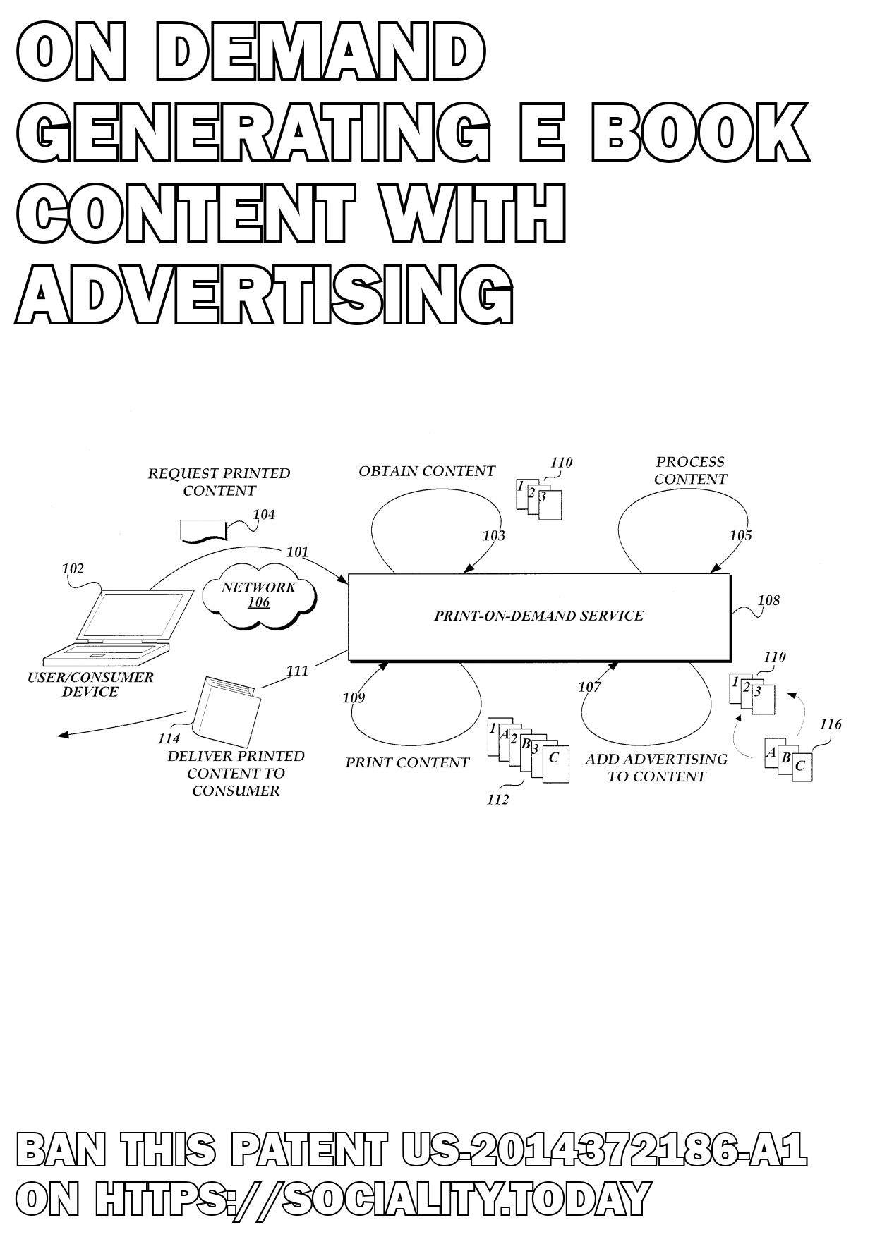 On-Demand Generating E-Book Content with Advertising  - US-2014372186-A1