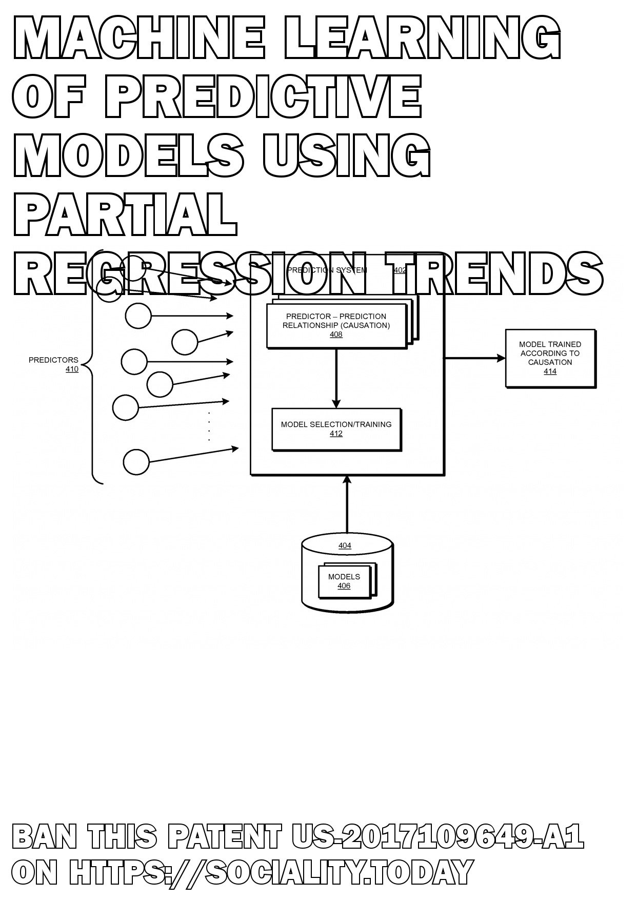 Machine learning of predictive models using partial regression trends  - US-2017109649-A1